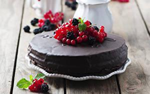 Обои Сладости Торты Смородина Шоколад Еда
