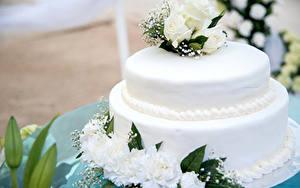 Обои Сладости Торты Розы Белые Дизайна Пища