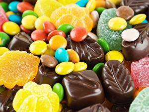 Картинки Сладости Кофе Шоколад Мармелад Продукты питания