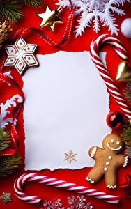 Фото Сладости Печенье Рождество Шаблон поздравительной открытки Дизайн Снежинка
