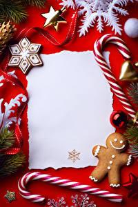 Фото Сладости Печенье Рождество Шаблон поздравительной открытки Дизайн Снежинка Еда