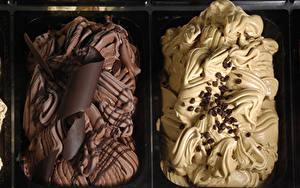 Картинки Сладкая еда Мороженое Шоколад Кофе Зерно