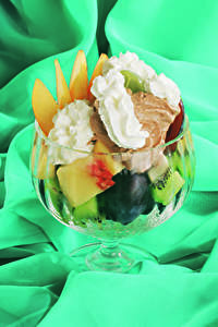 Фото Сладости Мороженое Фрукты Пища