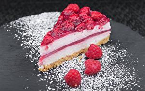 Обои Сладкая еда Пирожное Малина Торты Сахарная пудра Часть Еда