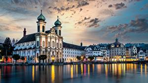 Фото Швейцария Здания Церковь Luzern, Jesuitenkirche
