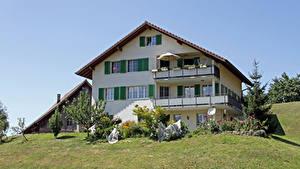 Фотография Швейцария Здания Особняк Дизайн Дерево