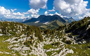 Фотографии Швейцария Гора Альпы Облака Leysin Природа