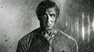 Фото Sylvester Stallone Дождь Черно белое Rambo 5 Last Blood Фильмы