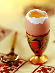 Обои Скатерть Крупным планом Яйцами Ложка