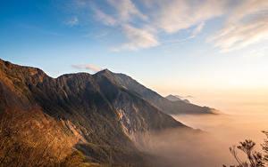 Обои для рабочего стола Тайвань Горы Небо Мхом Beidawu National Trail Природа