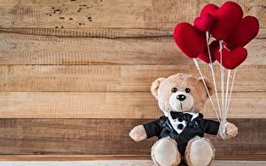 Картинки Плюшевый мишка День святого Валентина Сердечко
