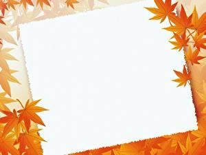 Фото Шаблон поздравительной открытки Листва