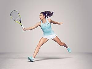 Картинка Теннис Ног Майки British WTA Johanna Konta спортивные Девушки