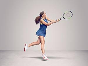 Картинка Теннис Ног WTA Latvian, Jelena Ostapenko спортивные Девушки