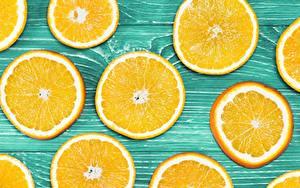 Обои для рабочего стола Текстура Апельсин Нарезанные продукты Доски Еда