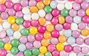 Картинка Текстура Сладкая еда Драже Разноцветные Пища