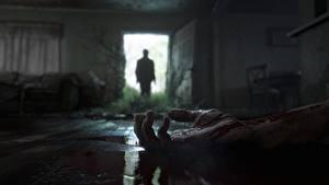 Фотографии The Last of Us 2 Рука Крови Дверь Силуэт Игры