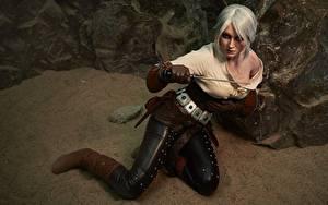 Фотография Ведьмак 3: Дикая Охота Воины Косплей Блондинка Cirilla