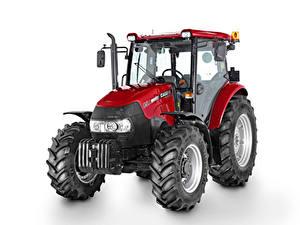 Фото Трактор Красные Белом фоне Case IH Farmall 85A, 2012–