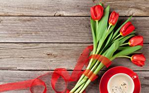 Обои Тюльпаны Красная Доски Шаблон поздравительной открытки цветок