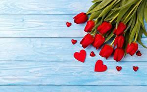 Картинки Тюльпаны День святого Валентина Сердце Доски Шаблон поздравительной открытки цветок