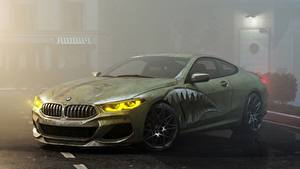 Фотографии Тюнинг BMW Зеленые Купе M8 M850i by Alexander Lukyanenko Автомобили