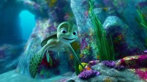 Картинки Черепахи Подводный мир Sammy's avonturen: De geheime doorgang 2010 мультик 3D_Графика