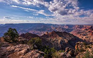Картинки США Гранд-Каньон парк Небо Скале Облако Каньона Arizona