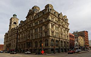 Обои Штаты Здания Банк Улица Milwaukee, Mitchell Building