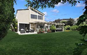 Фото США Здания Калифорния Особняк Дизайна Газоне Dana Point