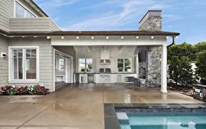 Обои Штаты Дома Интерьер Калифорнии Особняк Дизайна Newport Beach
