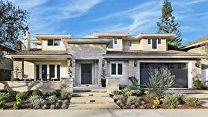 Обои Штаты Здания Особняк Дизайн Гараж Newport Beach Города