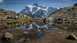 Фотографии Америка Горы Камни Whatcom Природа