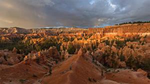 Обои для рабочего стола Америка Парк Каньоны Скале Bryce Canyon National Park Природа
