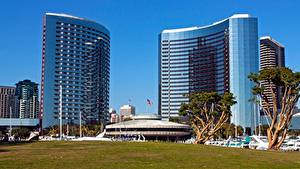 Обои Штаты Калифорнии Отель Траве San Diego, Hotel Marriott Города
