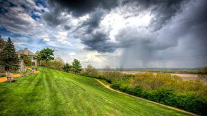 Картинки Штаты Небо Газоне Кресло Облако HDRI St. Louis County Missouri