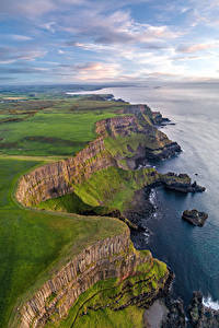 Фотография Великобритания Побережье Утес Облака Antrim, Northern Ireland
