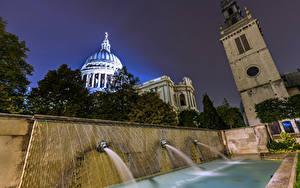 Картинки Великобритания Фонтаны Лондоне город