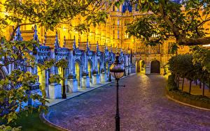 Фото Великобритания Дома Лондоне Уличные фонари Города