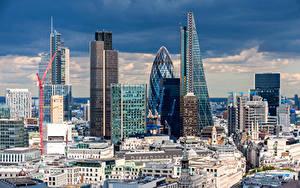 Картинки Великобритания Дома Небоскребы Лондон