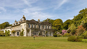 Фотография Великобритания Дома Особняк Газон Trengwainton House and Garden in Madron Города