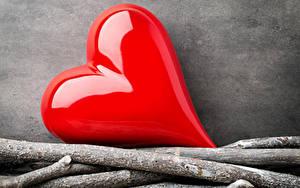 Картинки День святого Валентина Ветвь Сердце Красный