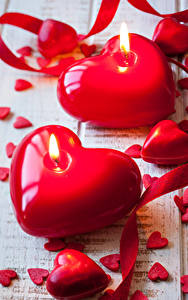 Картинки День святого Валентина Свечи Сердечко