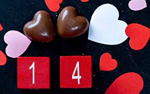 Фото День святого Валентина Конфеты Шоколад Сердечко