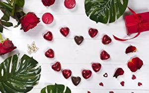 Фото День всех влюблённых Конфеты Сердечко Пища