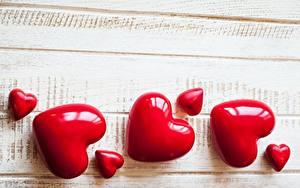 Фото День святого Валентина Сердце Красный Шаблон поздравительной открытки Доски