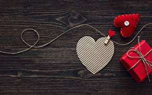 Фотографии День святого Валентина Сердечко Шаблон поздравительной открытки Доски