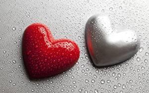 Фотография День святого Валентина Серце Две Капли