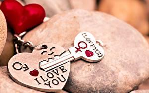 Фотография День всех влюблённых Ключа Сердце Сувенир I LOVE YOU
