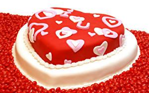 Картинки День всех влюблённых Сладости Торты Конфеты Дизайн Сердечко Продукты питания
